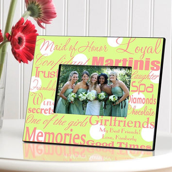 Maid of Honor Frame - Green Dots