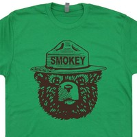 Smokey The Bear T Shirt Smokey The Bear Shirt Cool Camping Shirt Hiking Tee