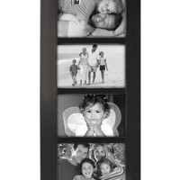 Malden 2012-464 Berkeley 4 by 6 Beveled Wood Edge 4 Opening Collage Frames, Black
