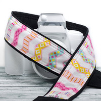 dSLR Camera Strap, Pastel Chevron, Stripe, Polka Dot, SLR, 116