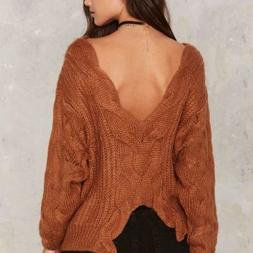 Just Like Honey Oversized Sweater