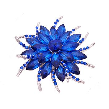 Austrian Crystal Brooch Pins For Women Top Quality Flower Broches Jewelry Fashion Wedding Party Invitation Bijoux Broche Femme