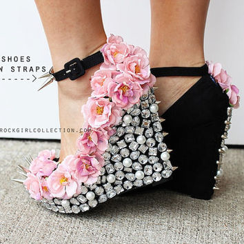 Best Floral Wedge Heels Products on Wanelo