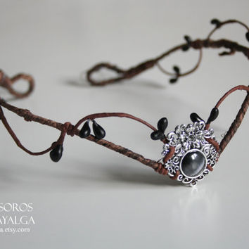 Woodland elf tiara - elven forest headpiece