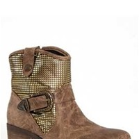 Gliks - Dolce by Mojo Moxy Bratty Western Bootie in Natural