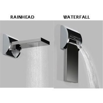 Jaclo 1728-BSS Aquavolo Duetto Wall Mounted Rotating Shower, Brushed Stainless Steel, Brushed Stainless Steel