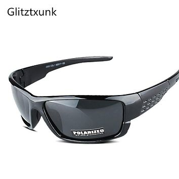 Glitztxunk Polarized Sunglasses Men Women Square Brand Design Classic Male Black Sports Sun Glasses For Men Drive Goggle gafas