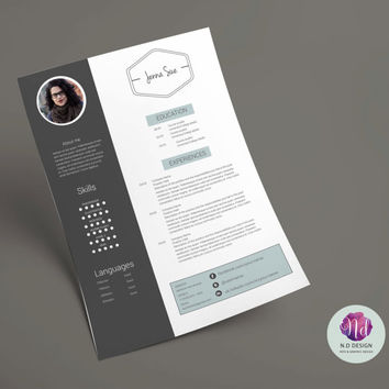 Modern resume template (+ cover letter template)