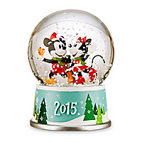 Mickey and Minnie Mouse Holiday Snowglobe 2015