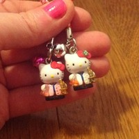 Dr. Scientist Hello Kitty Lab Coat Flask Microscope Cell Phone Charm