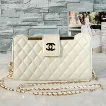 DCCKFM6 CHANEL Women Fashion Shopping Leather Shoulder Bag Satchel Crossbody