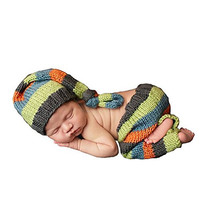 CX-Queen® Handmade Cute Unisex Baby Boy Girl Newborn Knitted Knitted Hat And Pants