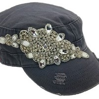 Cap Couture Women's Flashy Flower Side Cadet Hat