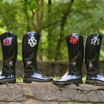 Women's Monogrammed Embroidered Rain Boots Are Here!!
