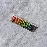 "Rainbow ""Resist"" Lapel Pin"