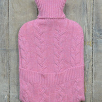 Luxury Cashmere Hot Water Bottle in Pink