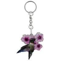 Hummingbird Mirrored Acrylic Keychain