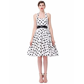 VINTAGE POLKA-DOT SWING DRESS