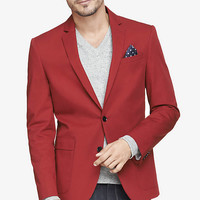 TWILL BLAZER - RED from EXPRESS