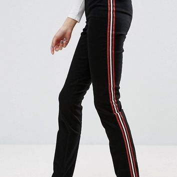 ASOS TALL Cigarette Trousers With Side Stripe at asos.com