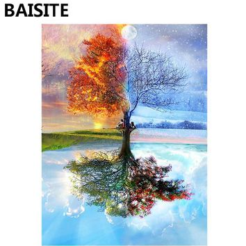 BAISITE DIY Acrylic Painting By Numbers Hand Painted Canvas Modern Wall Picture For Living Room Home Decor Wall Art Y5282