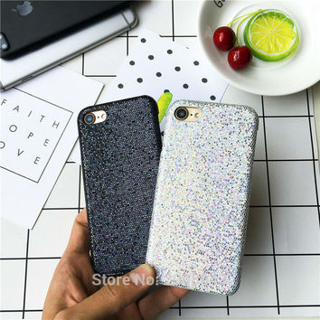 Glitter Skin Phone Cases For Apple iPhone7 6 6s 4.7inch 6plus 6splus 7plus sparkling hard back cover case PC Plastic shinning -0325