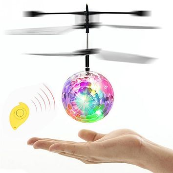 Recommend Induction Fly Flash Ball Toys Remote Control RC Helicopter Flying Quadcopter Drone Kids Toy Fairy Doll Best Gifts