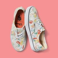 Vans Disney Series Mermaid Canvas Skate Shoes Floral