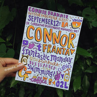 Connor Franta Coloured Collage
