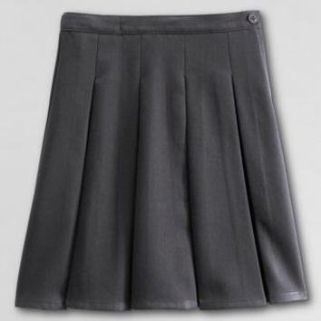 Solid Box Pleat Skirt Top of Knee