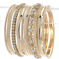 High Tower Gold Bangle Bracelet