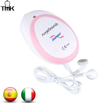 FDA&CE Maternity Portable Mini AngelSounds Ultrasound Prenatal Sonoline B Pocket Baby Monitor Fetal Heart Rate Doppler ES/IT