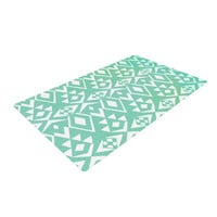 "Pom Graphic Design ""Ancient Tribe"" Seafoam Woven Area Rug"