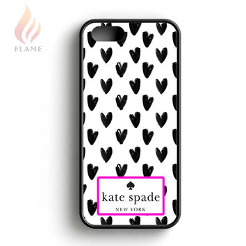 Kate Spade Black White Hearts iPhone 5 Case iPhone 5s Case iPhone 5c Case