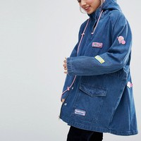 Lazy Oaf Bubble Denim Parka Jacket at asos.com