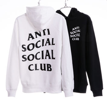 Anti Social Social Club Women Fashion Print Long Sleeve Top Sweater Hoodie