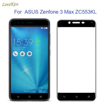2.5D Full Cover Tempered Glass For ASUS Zenfone 3 Max ZC553KL Screen Protector Guard Film For Asus 3 Max ZC553KL Glass 5.2inch