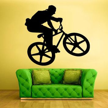 Wall Vinyl Decal Sticker Bedroom Decal Modern Sport Cycle BMX Bike Bicycle  z575