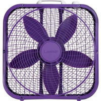 "Lasko Cool Colors 20"" Box Fan, Purple"