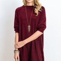 Slub Knit Oversized Sweater Dress
