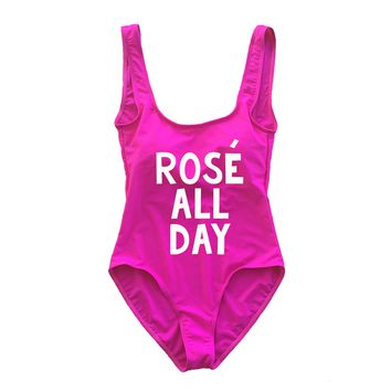 Rose All Day Pink One Piece Swimsuit