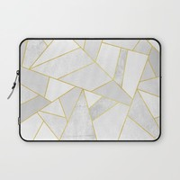 White Stone Laptop Sleeve by Elisabeth Fredriksson