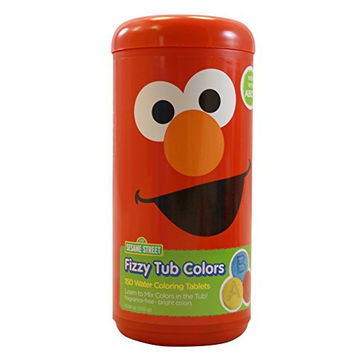 Sesame Street Fizzy tub Colors - Water Coloring Tablets 150 count (Elmo)
