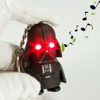 Mini LED Flashlight keychains Darth Vader /STORM TROOPER/ YODA figures FREE SHIPPING