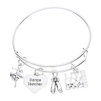 Dance Teacher Bangle Bracelet