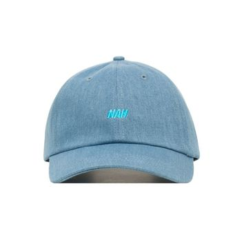 Embroidered Nah Dad Hat - Baseball Cap / Baseball Hat