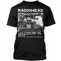 Radiohead T Shirt - Ice Caps