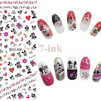 Nails Art Sticker DIY Designer Mickey Mouse Heart  Nail Wraps Sticker Watermark Fingernails Decals manicure stickers[DS098]