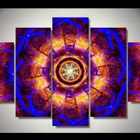 Psychedelic Expansion 5-Piece Wall Art Canvas