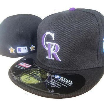 Colorado Rockies Cool Base 59fifty Mlb Cap All Star Patch Black